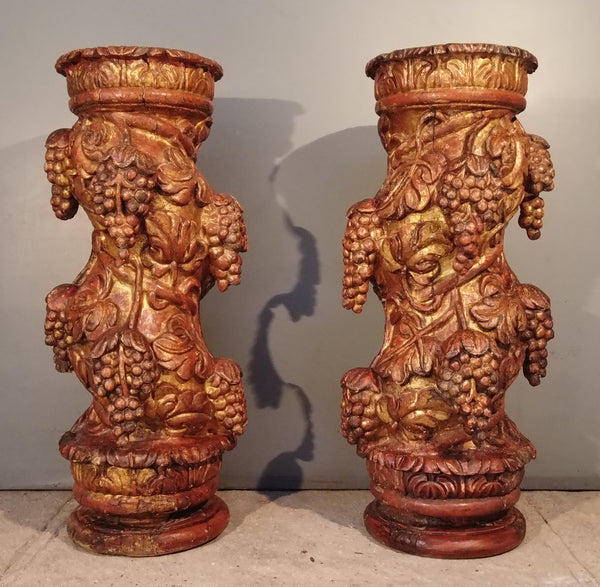 Pair of Colonial Half Columns from Mexico