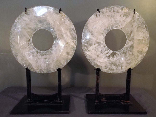 Quartz Crystal Toroidal Shaped Figures From Brazil