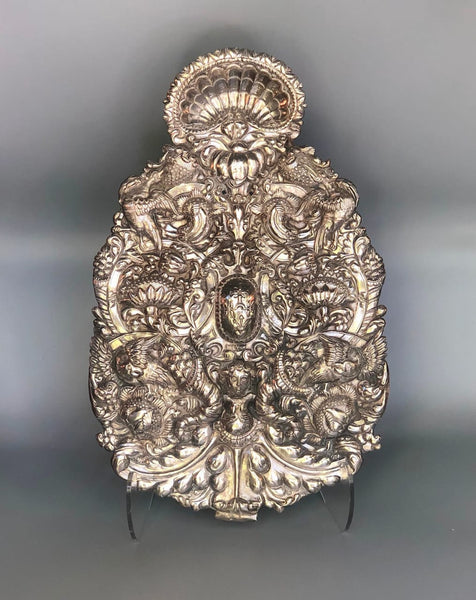Pair of Spanish Colonial Sterling Silver Sconce
