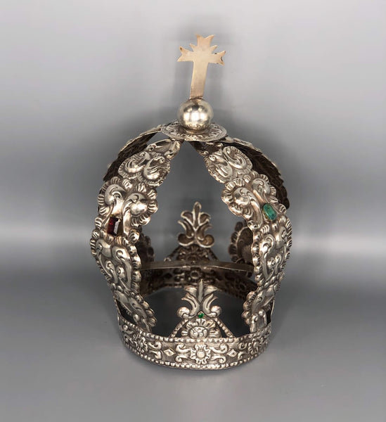 Spanish Colonial Sterling Silver Crown