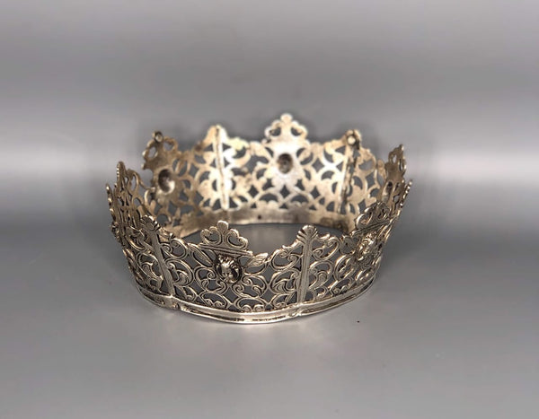 Small Spanish Colonial Sterling Silver Crown from Mexico