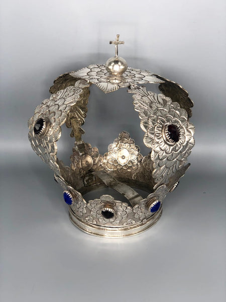 Spanish Colonial Sterling Silver Crown from Peru