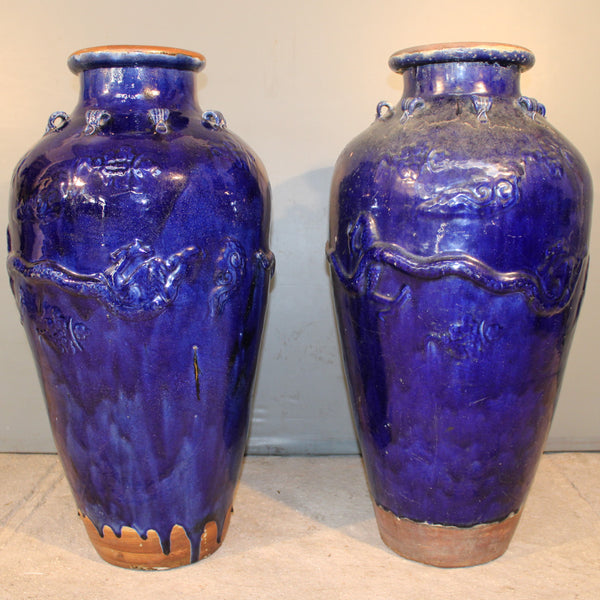 Cobalt Blue Martaban Jars from Indonesia