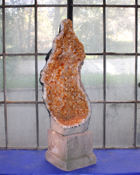 Citrine Geode resembling Our Lady of Guadalupe