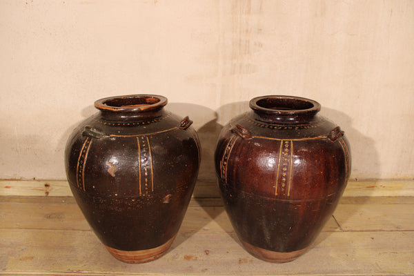 Brown Martaban Jars from the Philippines