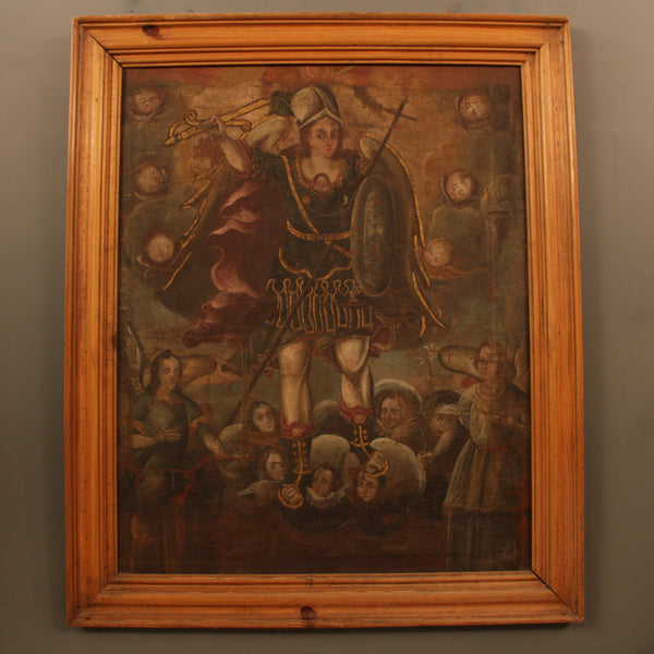 Saint Michael Painting from Mexico