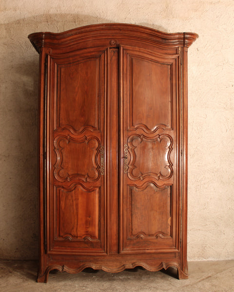 French Armoire. Very large with traditional panels.
