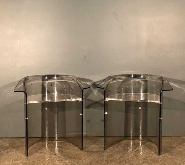 Set of 5 Acrylic Chairs with Metal Bolts