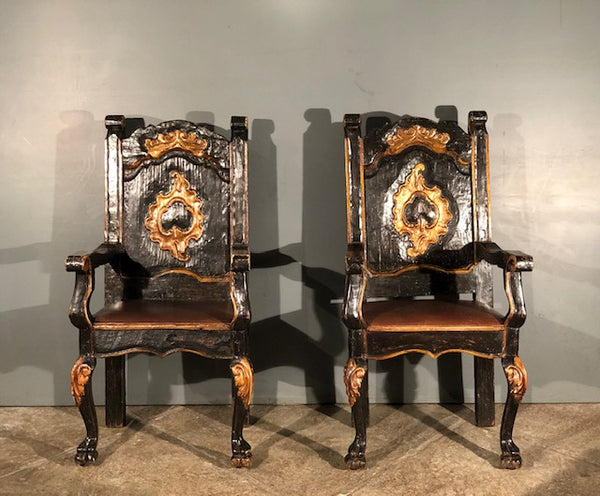 18th Century Pair of Frailero Chairs