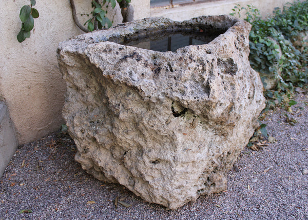 Stone Container with Natural Organic Texture