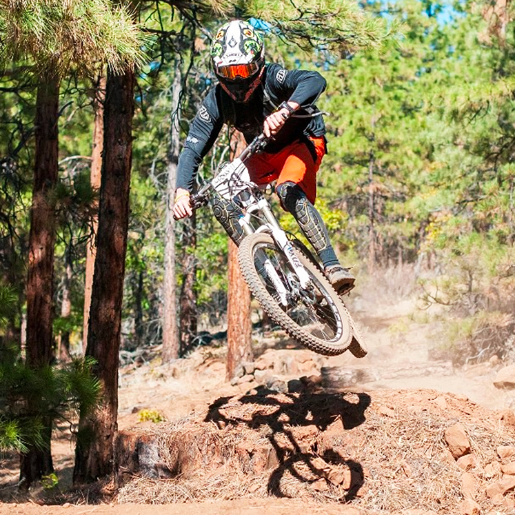 Brad Powell pro mountain biker on the trail