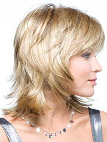 Layered Blonde Wig by Rene of Paris