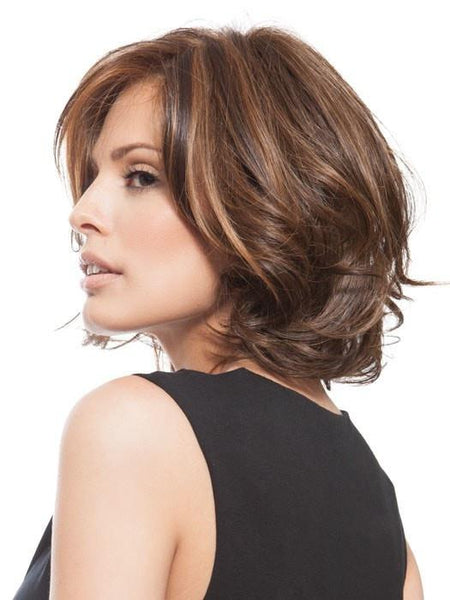 Short Wavy Bob Wigs, Brown and Blonde Wig by Raquel Welch
