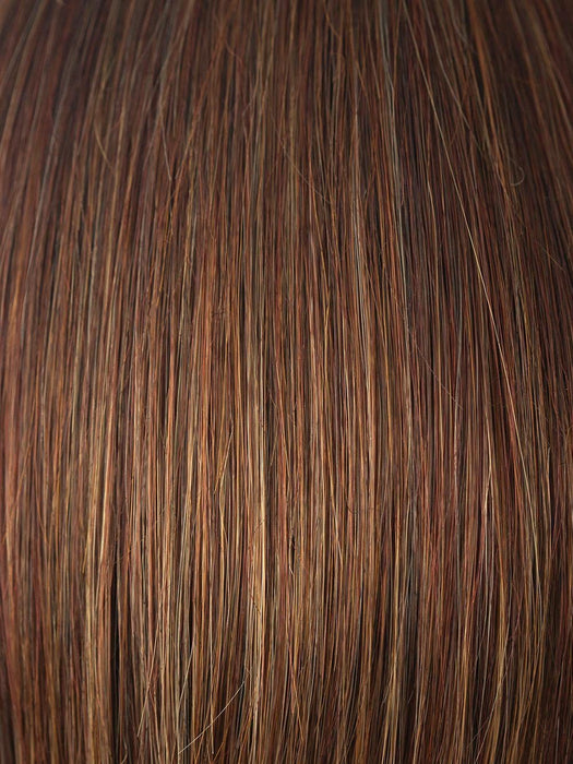 RUSTY-RED | Medium reddish brown base with light reddish highlights