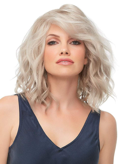 Julianne by Jon Renau in 101F48T | Soft White Front, Lt Brown w/ 75% Grey Blend w/ Soft White Tips