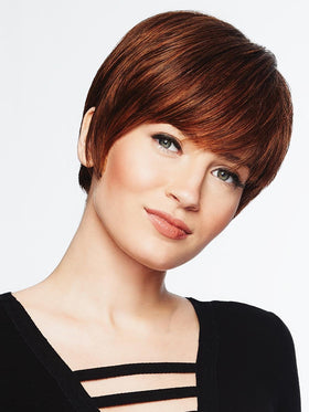 SHORT TEXTURED PIXIE CUT by HAIRDO in R3025S+ GLAZED CINNAMON | Medium Reddish Brown with Ginger Blonde highlights