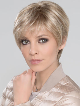 EVER MONO Wig by ELLEN WILLE in Pearl Platinum, Dark Ash Blonde, and Medium Honey Blonde mix