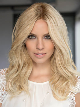 Blonde Remy Human Hair Wig by ELLEN WILLE in LIGHT HONEY ROOTED