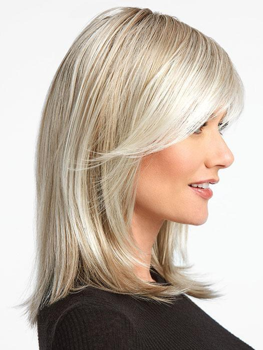 Extended Temple-to-temple sheer lace front for off-the-face styling