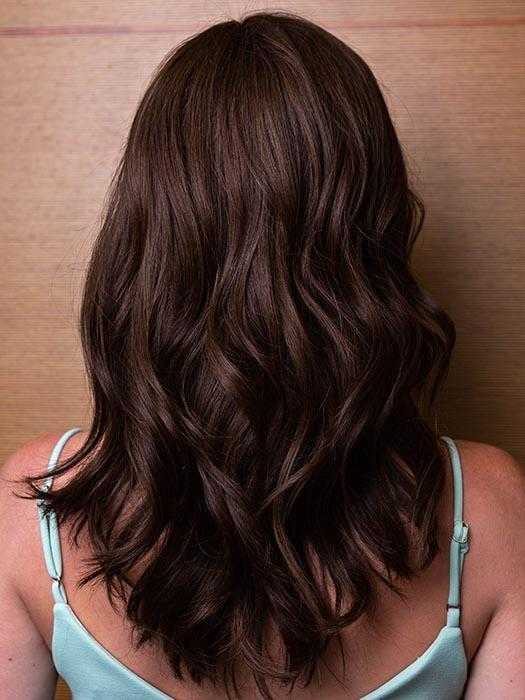 AMBER by LOUIS FERRE in 8/32 GINGER BROWN | Brown with Auburn Highlight Blend (This piece has been styled and curled)