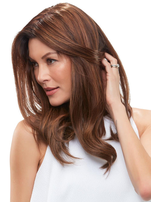 Its naturally beautiful Remy human hair is styled easily with heat and blends in seamlessly