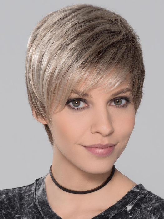 YOU Wig by ELLEN WILLE in SAND MULTI ROOTED | Lightest Brown and Medium Ash Blonde Blend with Light Brown Roots