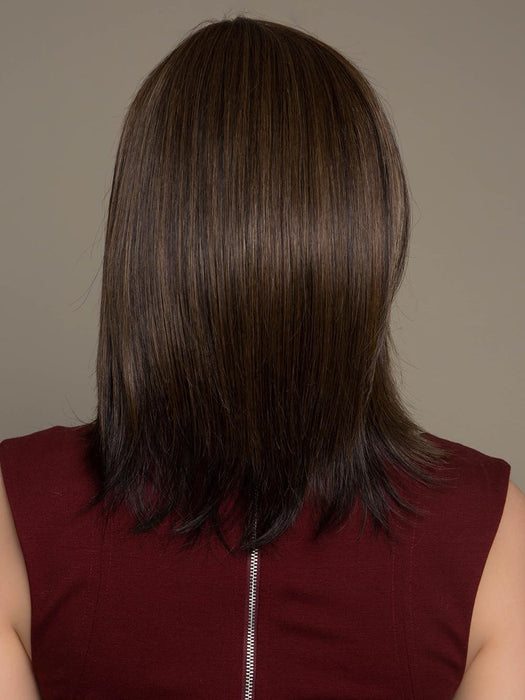 ZOEY by ENVY in MEDIUM BROWN | Medium Brown with natural highlights (This piece has been styled and straightened)