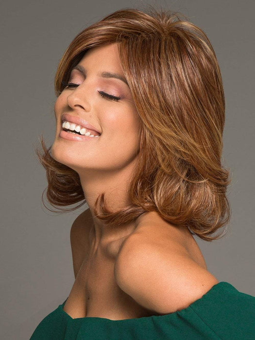 EMBRACE by RAQUEL WELCH in RL31/29 FIEREY COPPER | Medium Light Auburn Evenly Blended with Ginger Blonde