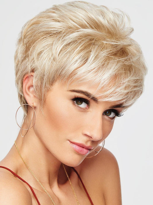 SPARKLE ELITE by RAQUEL WELCH | 20th Anniversary | R23S+ GLAZED VANILLA | Cool Platinum Blonde with Almost White Highlights