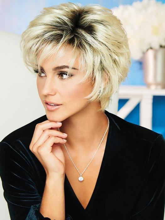 BEST SELLER | VOLTAGE by RAQUEL WELCH in SS613 SHADED PLATINUM | Light Golden Blonde with Dark Roots