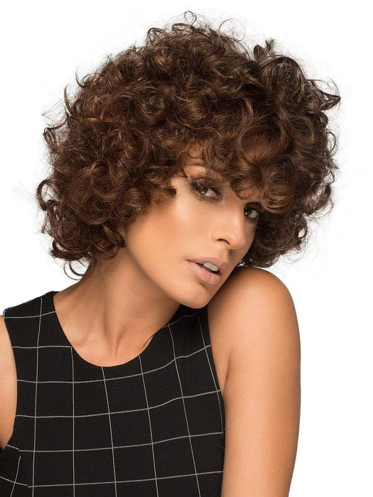MACEY by ENVY in CINNAMON RAISIN | Medium Brown with Auburn and Cinnamon highlights (This piece has been styled for this look)