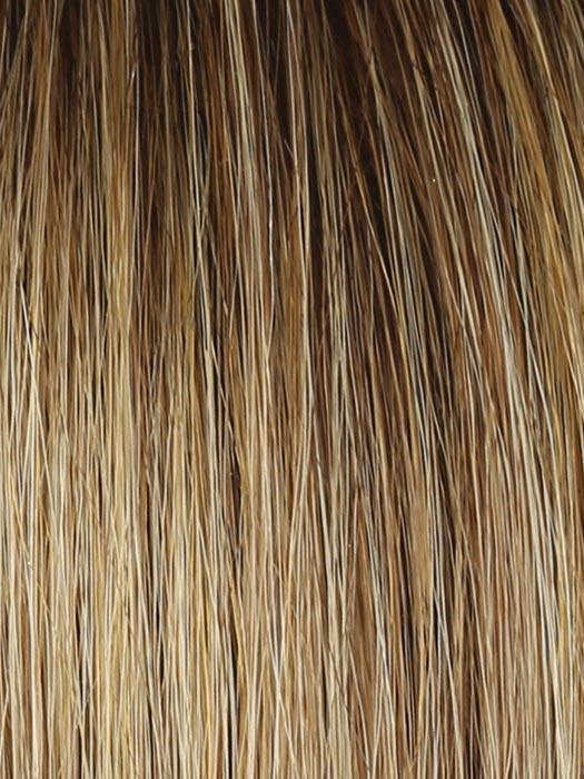 SS14/25 SHADED HONEY GINGER | Dark Blonde Evenly Blended with Medium Golden Blonde With Dark Roots