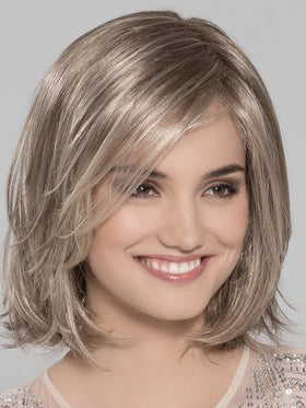 LUCKY HI Wig by ELLEN WILLE in SANDY-BLONDE-ROOTED | Medium Honey Blonde, Light Ash Blonde, and Lightest Reddish Brown blend with Dark Roots