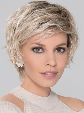 SCORE by ELLEN WILLE in LIGHT-CHAMPAGNE-ROOTED | Platinum Blonde, Cool Platinum Blonde, and Light Golden Blonde blend