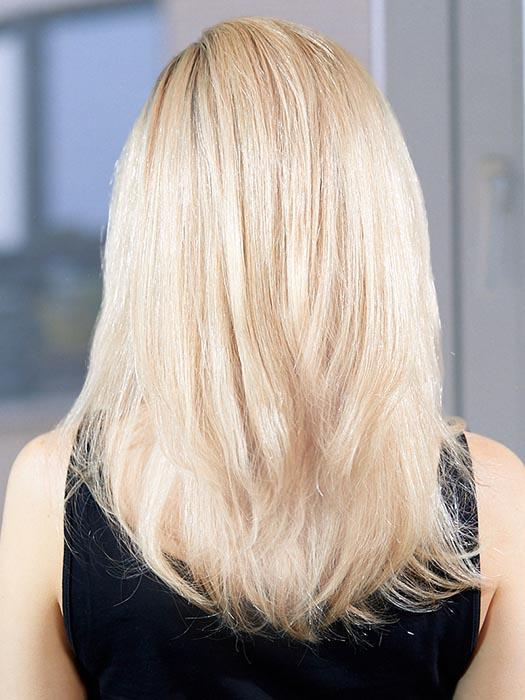 PLF 007HM by LOUIS FERRE in GINGER BLONDE TWIST | Light Blonde Blended with Light Red Tones, and Medium Brown Root