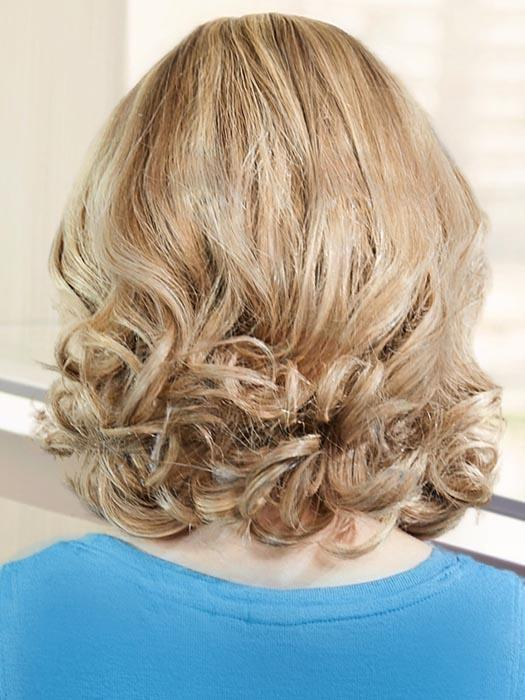 PLF 008HM by LOUIS FERRE in 140/14 SPRING HONEY | Medium Blonde Blended with Light Brown Tones (PIECE HAS BEEN CURLED TO GET THIS LOOK)