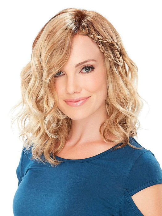 MILA PETITE Wig by Jon Renau in 14/26S10  | Light Gold Blonde and Medium Red-Gold Blonde Blend, Shaded with Light Brown