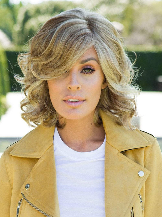 BRAVE THE WAVE Wig by RAQUEL WELCH in R14/25 HONEY GINGER | Dark Blonde Evenly Blended with Ginger Blonde