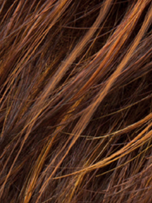 HOT HAZELNUT ROOTED | Medium Brown base with  Medium Reddish Brown and Copper Red highlights and Dark Roots