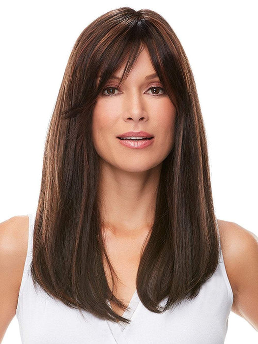 CAMILLA by JON RENAU in FS4/33/30A MIDNIGHT COCOA | Dark Brown, Medium Red, Medium Natural Red Blonde/Brown Blend with Medium Natural Red Blonde/Brown Blend Bold Highlights