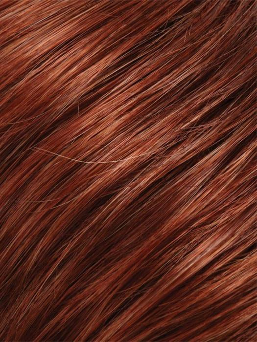 Color 131T4 = Brandy: Plum Red & Dk Brown Blend w/ Plum Red Tips