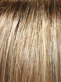 14/26S10 - Light Gold Blonde & Medium Red-Gold Blonde Blend, Shaded w/Light Brown at the Roots