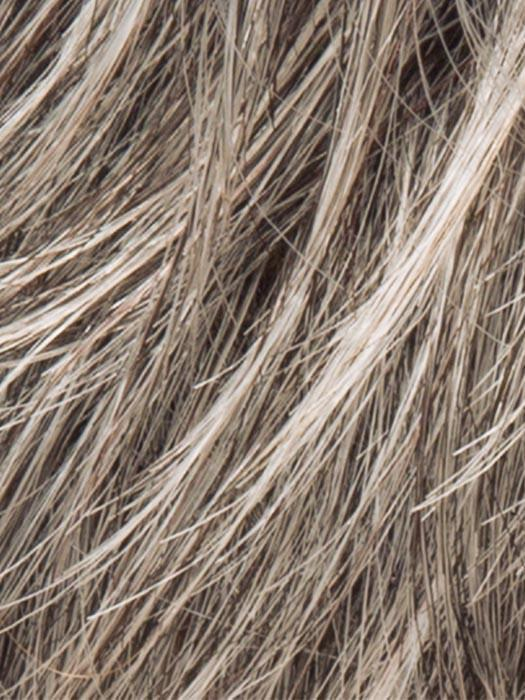 STONEGREY ROOTED | Blend of Medium Brown Silver Grey and white with Dark Roots