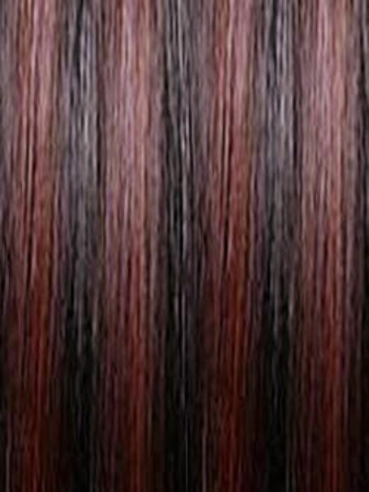 1BF118 Off Black (1B) with Bright Burgundy Red (118) frost