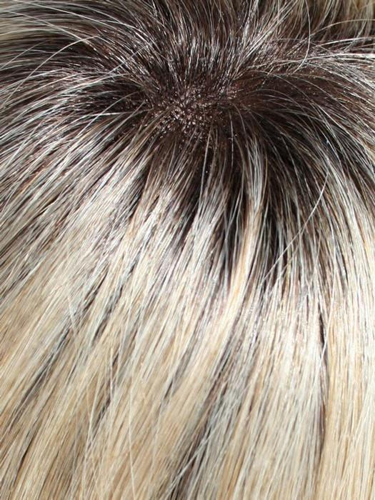 22/16S8 | Light Ash Blonde and Light Natural Blonde Blend, Shaded with Medium Brown