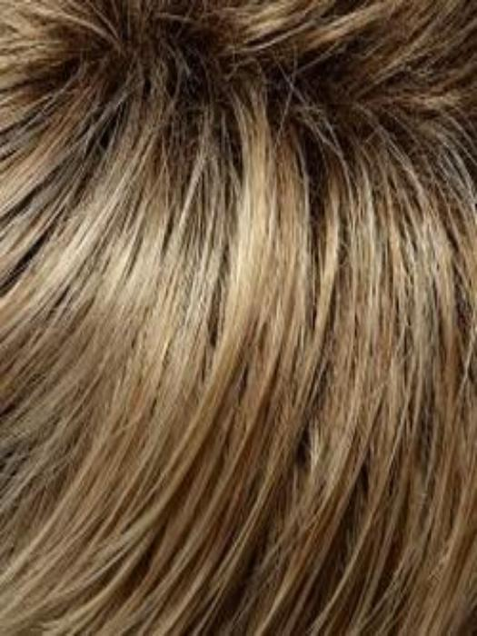 27T613S8 | SHADED SUN | Medium Natural Red-Golden Blonde & Pale Natural Gold Blonde Blend & Tipped, Shaded Medium Brown