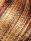 Color 33R27F = Frosted Flame: Dk Red w/ Strawberry Blonde Highlights