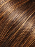 Color 6F27 = Caramel RIbbon: Medium dark brown with light red golden blonde highlights and tips