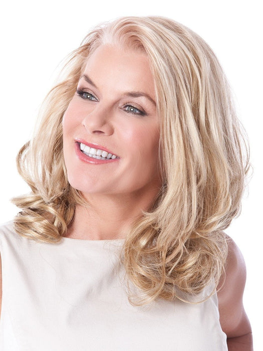8.5 EXT CURL 2 PC SET by Toni Brattin in 931 MEDIUM BLONDE | Golden blonde with lighter blonde highlights