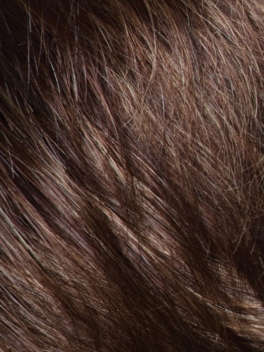 AUBURN SUGAR-R | Rooted Dark Auburn with Medium Auburn Base with Dark Strawberry Blonde Highlights